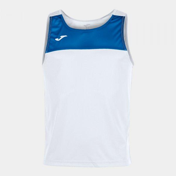 Футболка без рукавов RACE WHITE-ROYAL BLUE