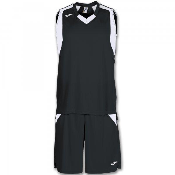 Баскетбольная форма (комплект) FINAL BLACK-WHITE SLEEVELESS