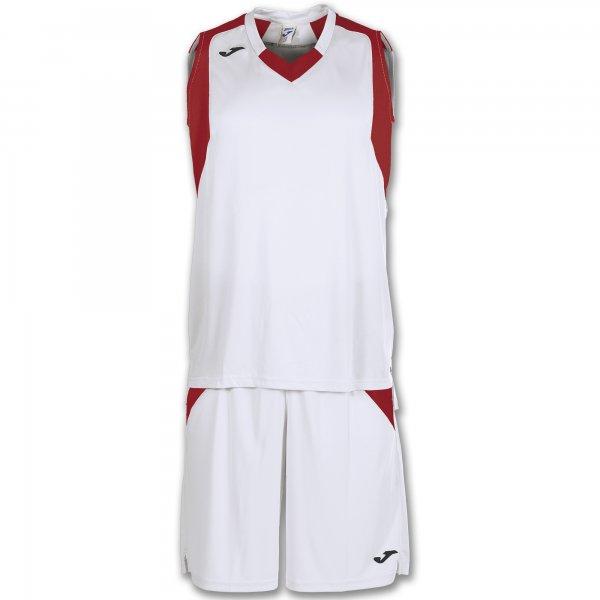 Баскетбольная форма (комплект) FINAL WHITE-RED SLEEVELESS