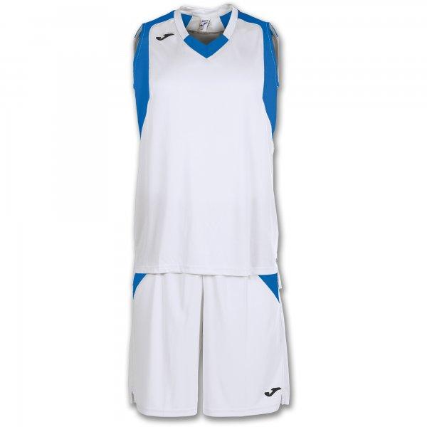 Баскетбольная форма (комплект) FINAL WHITE-ROYAL SLEEVELESS