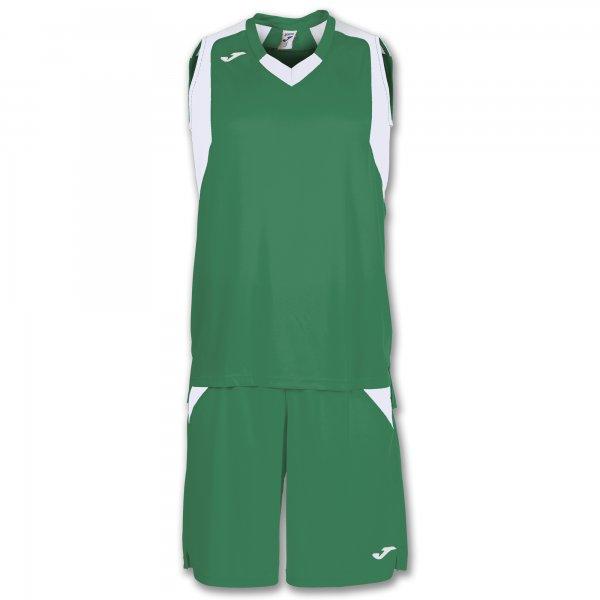 Баскетбольная форма (комплект) FINAL GREEN-WHITE SLEEVELESS
