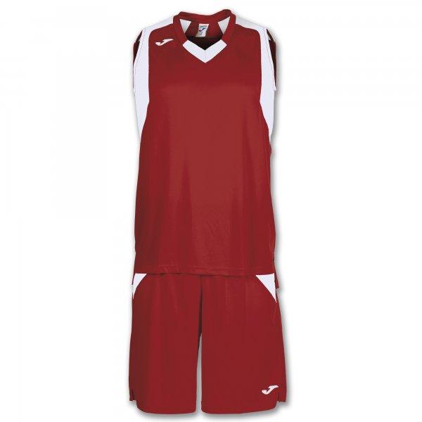 Баскетбольная форма (комплект) FINAL RED-WHITE SLEEVELESS