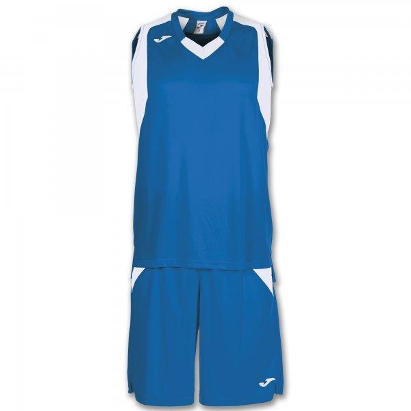 Баскетбольная форма (комплект) FINAL ROYAL-WHITE SLEEVELESS
