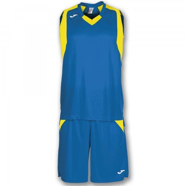 Баскетбольная форма (комплект) FINAL ROYAL-YELLOW SLEEVELESS