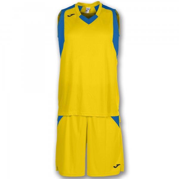 Баскетбольная форма (комплект) FINAL YELLOW-ROYAL BLUE