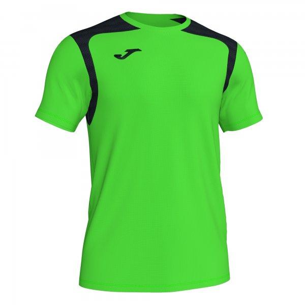 Футболка T-SHIRT CHAMPIONSHIP V FLUOR GREEN-BLACK S/S