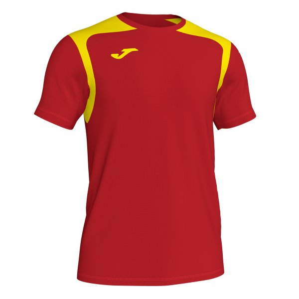 Футболка T-SHIRT CHAMPIONSHIP V RED-YELLOW S/S
