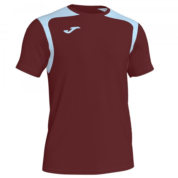 Футболка T-SHIRT CHAMPIONSHIP V BURGUNDY-SKY BLUE S/S