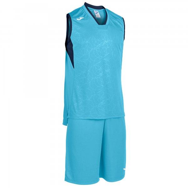 Комплект баскетбольный CAMPUS SET BASKET F TURQUOISE- DARK NAVY SLEEVELES