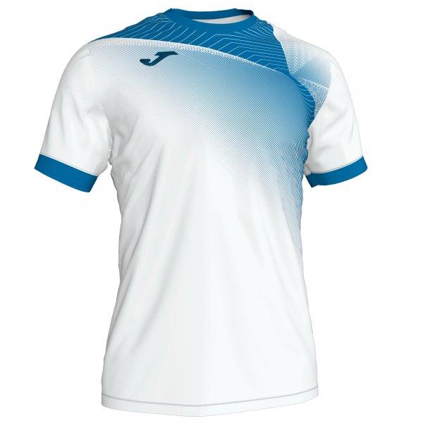 Гандбольная игровая футболка HISPA II T-SHIRT WHITE-ROYAL S/S