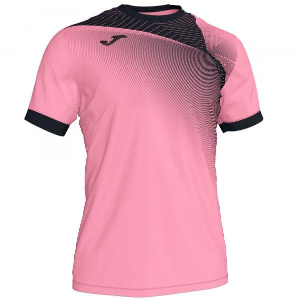Гандбольная игровая футболка HISPA II T-SHIRT PINK-BLACK S/S