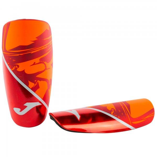 SHINGUARDS SPARTAN RED-ORANGE-SILVER