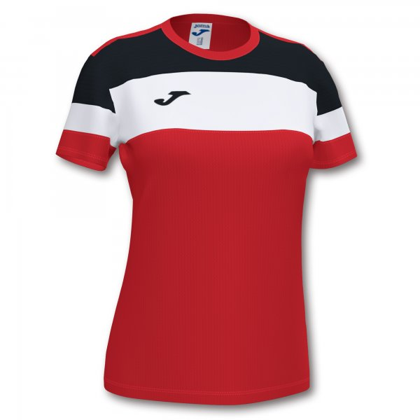 Футболка женская CREW IV T-SHIRT RED-BLACK S/S