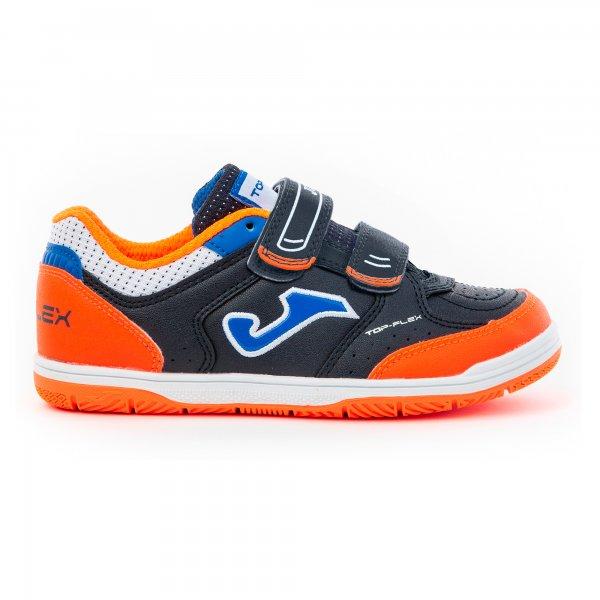 Зальная обувь TOP FLEX JR 2053 NAVY-ORANGE VELCRO INDOOR
